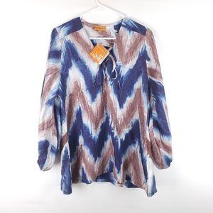 NWT Roberta Freymann 100% Silk Top Size Small